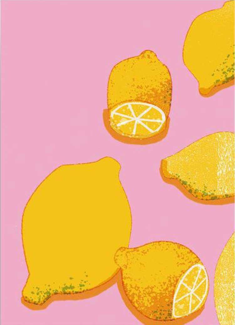 Pink Lemons Postkarte