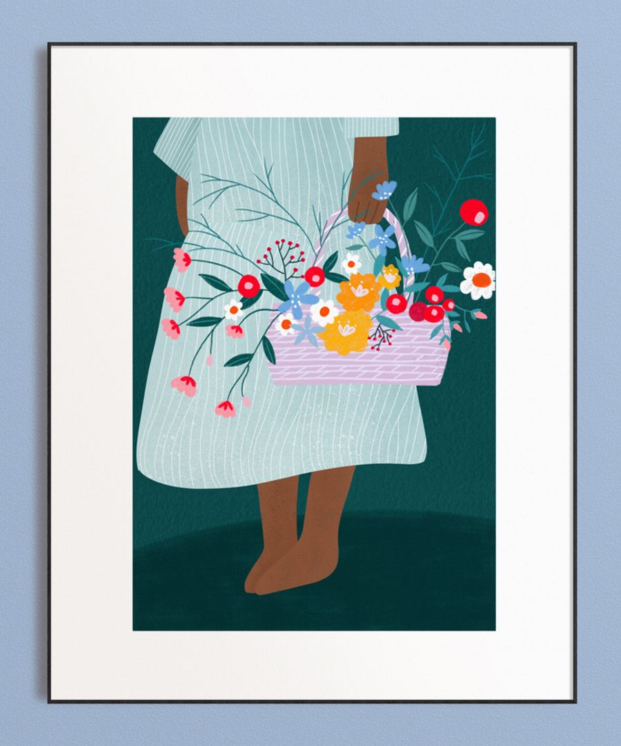 Flower Basket Print (Din A3)