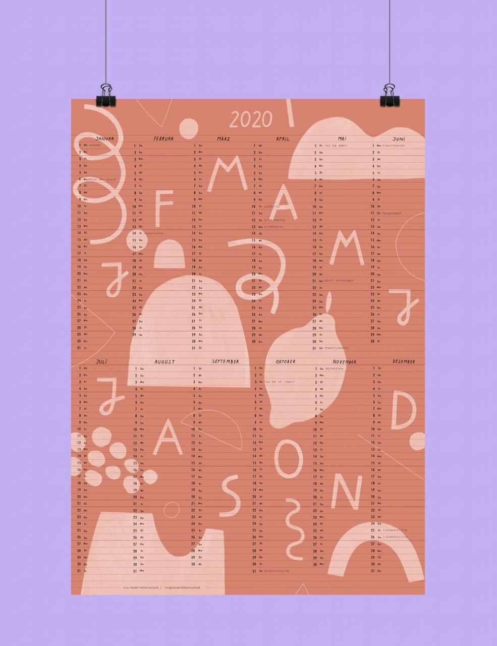 Anna K. Jansen Poster Calendar 2020 #2