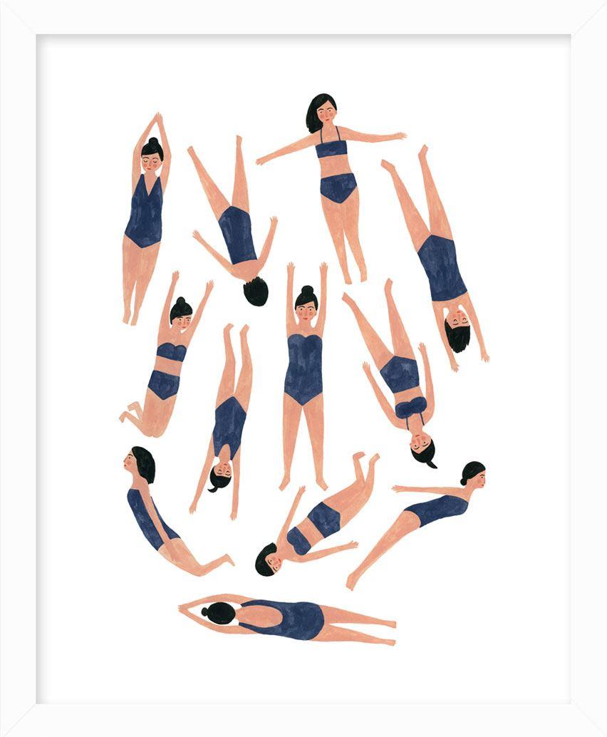 Swimmers Print (20x25cm)