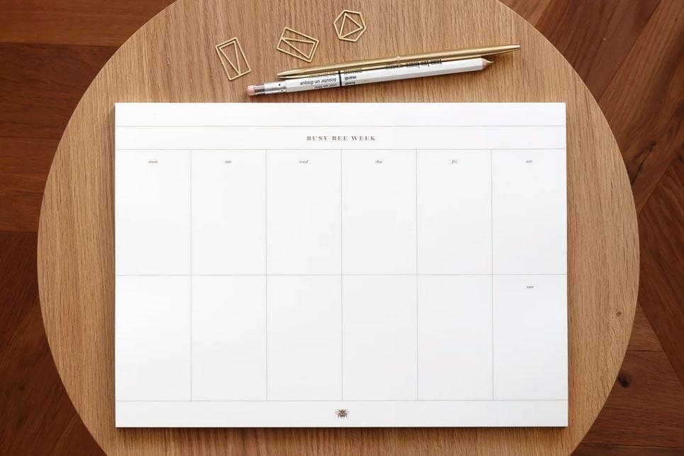Busy Bee Weekplan