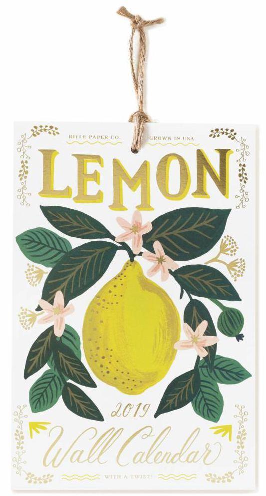 Lemon 2019 Wandkalender