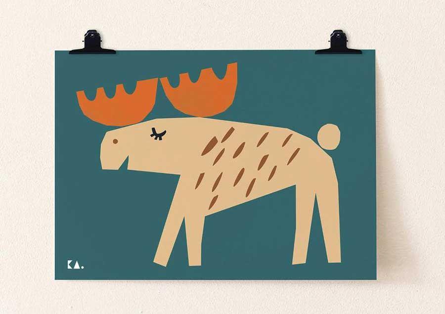 Moose Poster (50 x 70cm)