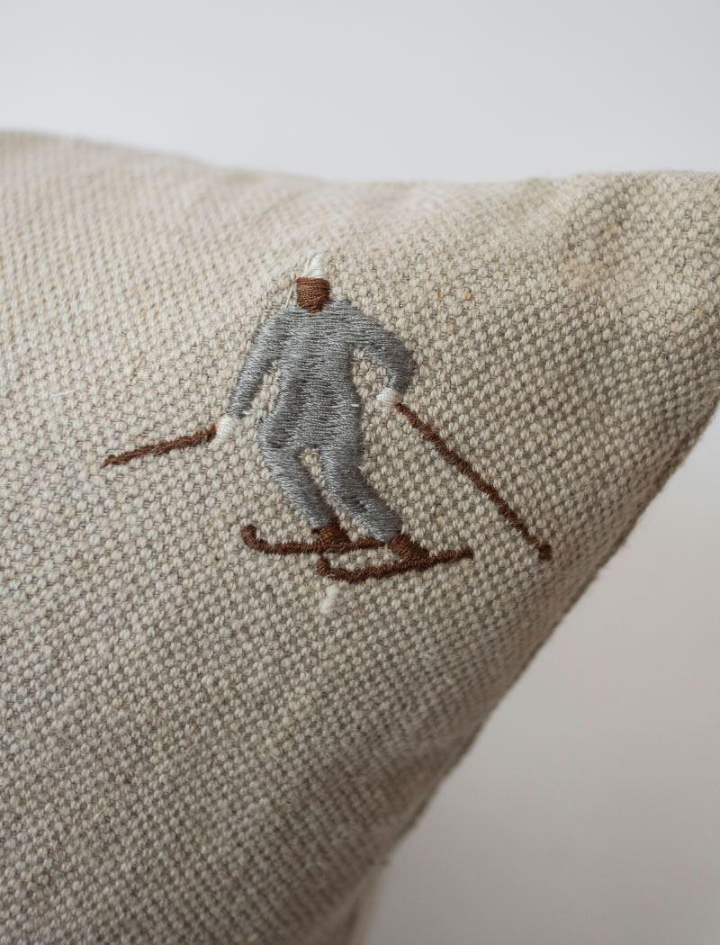 Kissen Skiers (ca. 50 x 50cm)