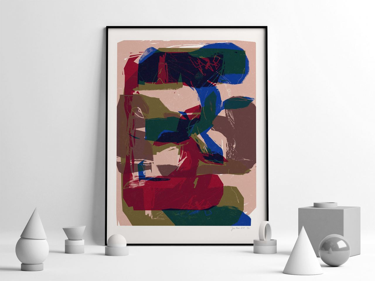 Red Flowers FineArt Print (50x70cm)