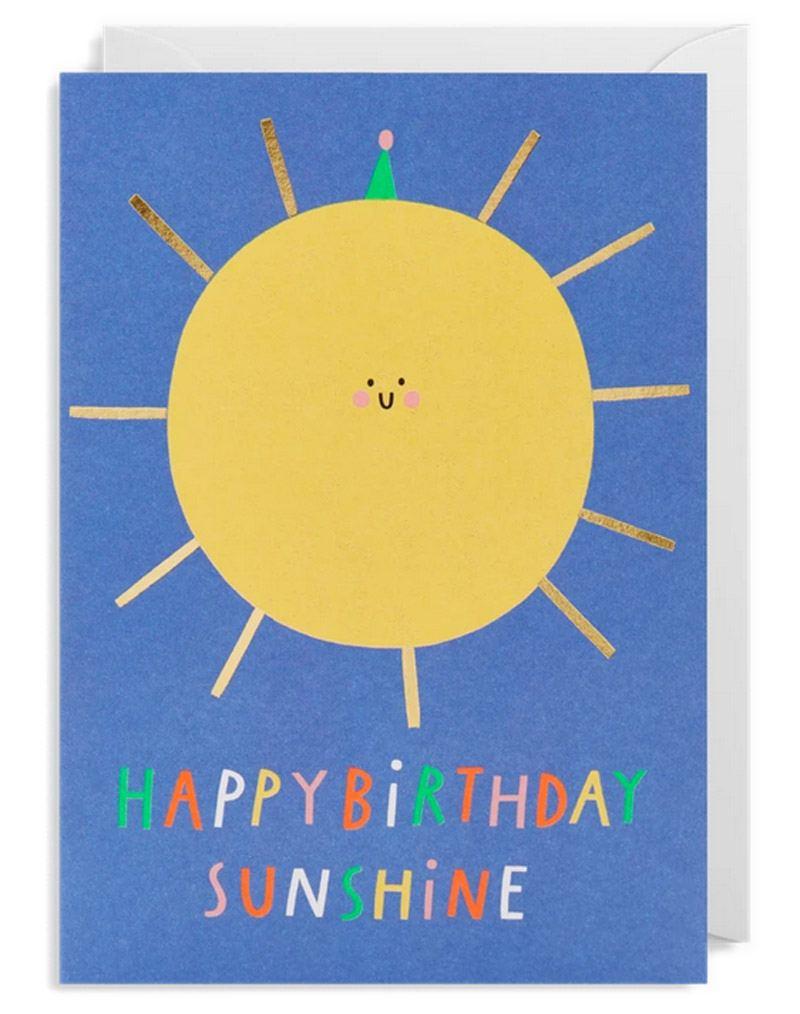 Happy Sunshine Birthday Klappkarte