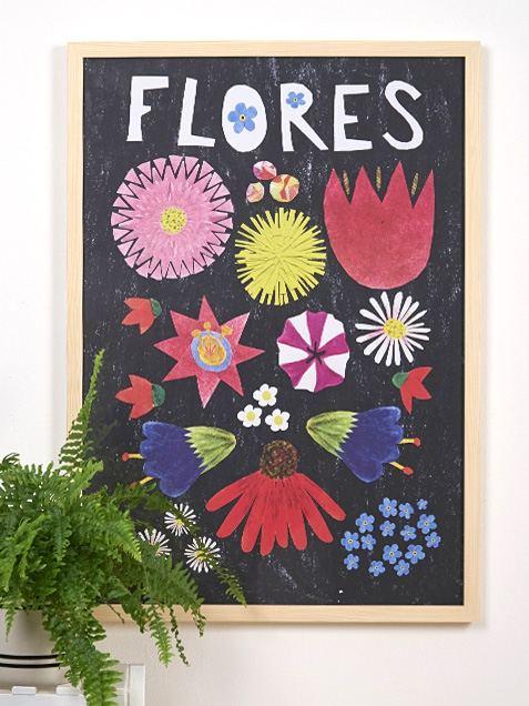 Flores Poster (50 x 70 cm)