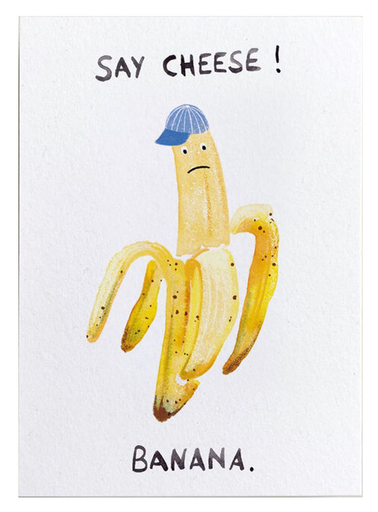 Banana Postkarte