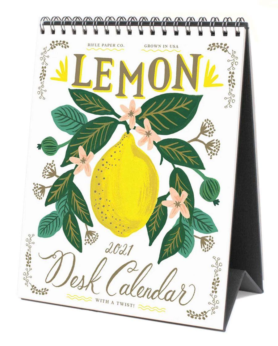 2021 Tischkalender Lemon