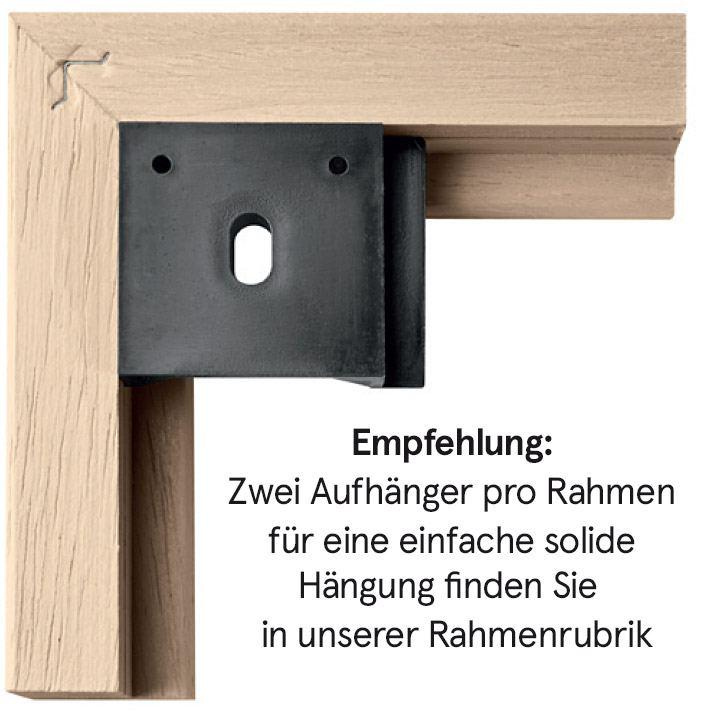 Holzrahmen Schwarz