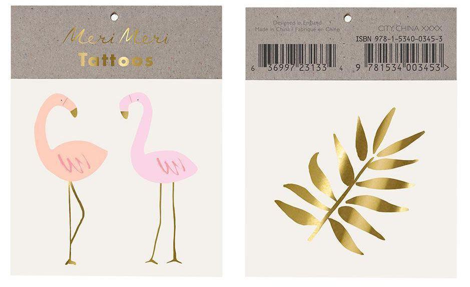 Flamingo Klebetattoos (2St.)