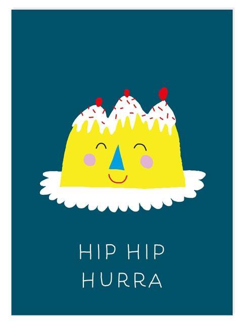 Geburtstagskuchen Postkarte