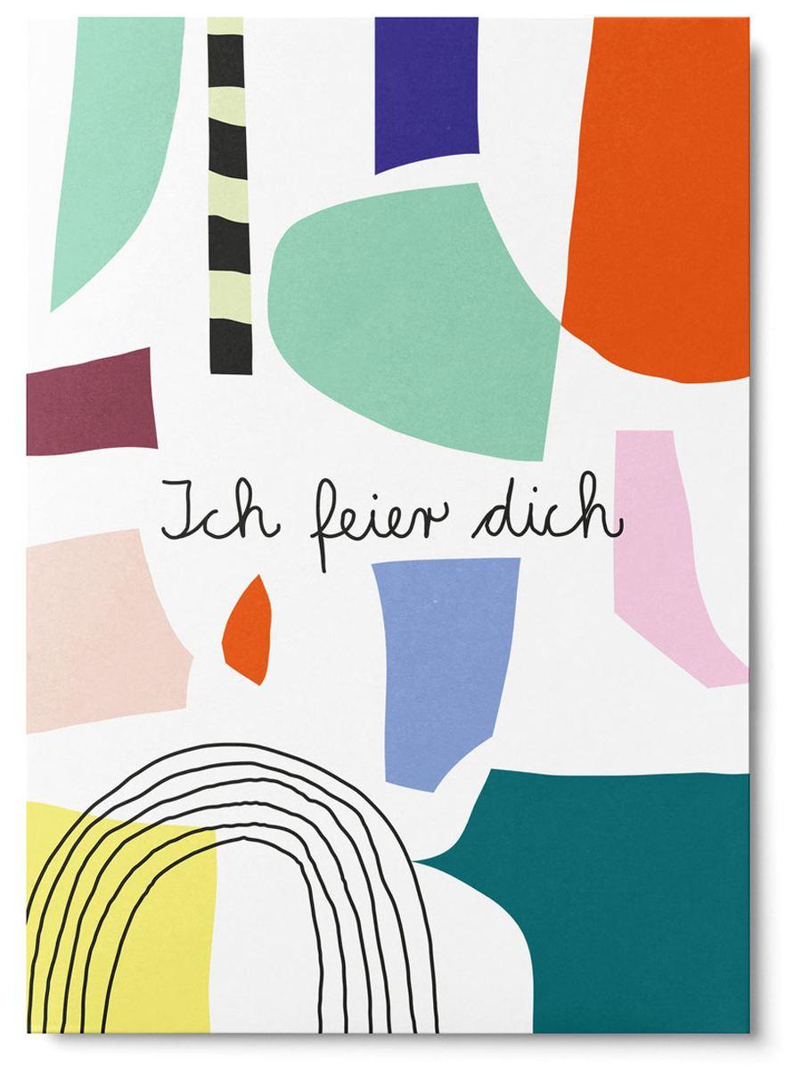 Ich feier Dich Abstract Postkarte