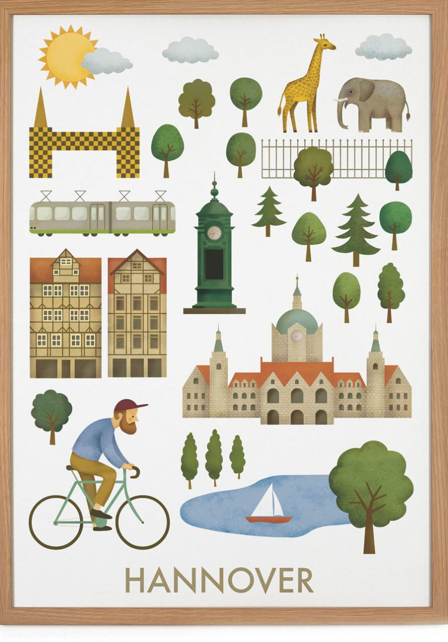 Hannover Poster (50 x 70 cm)