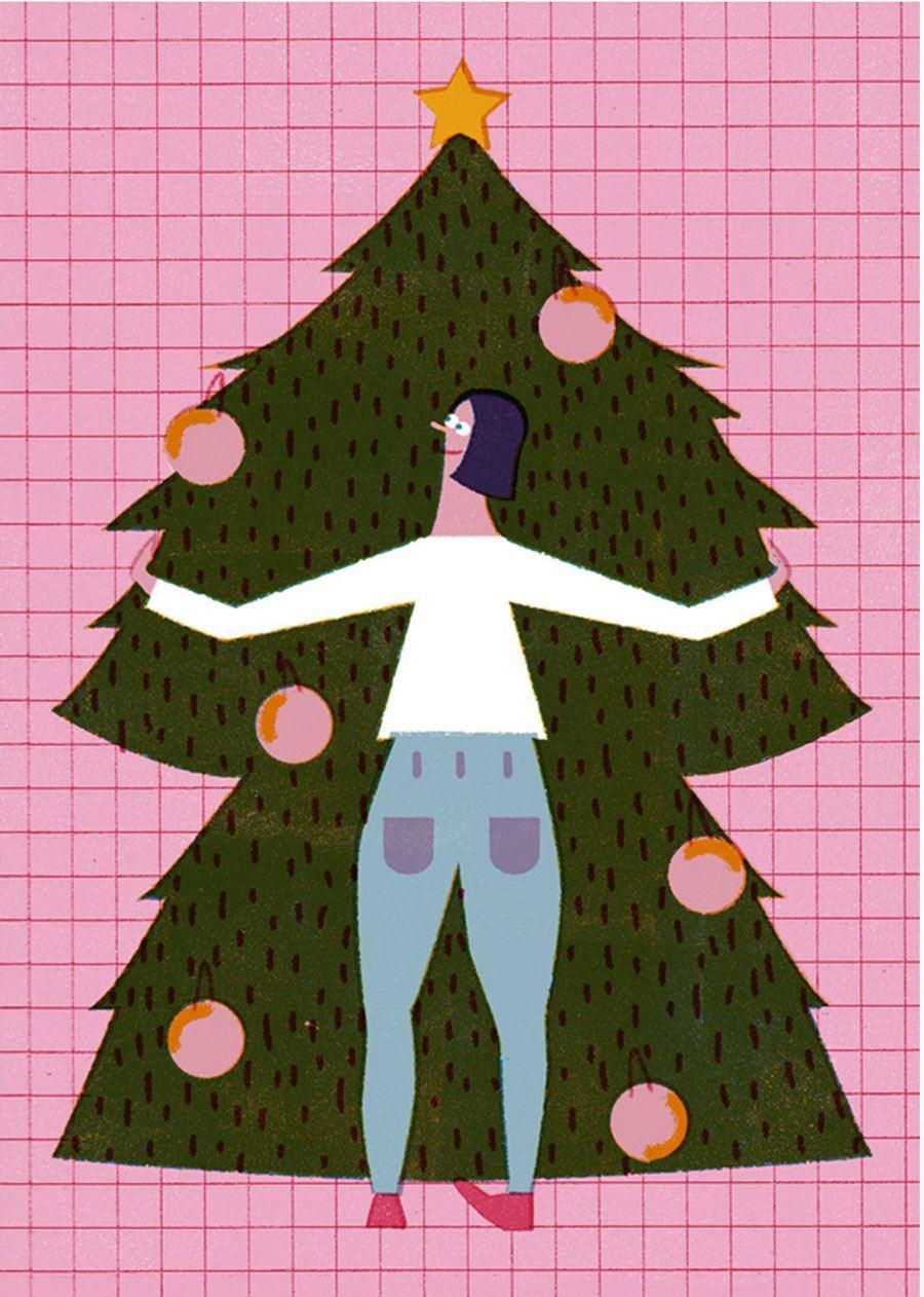 Christmas Tree Postkarte
