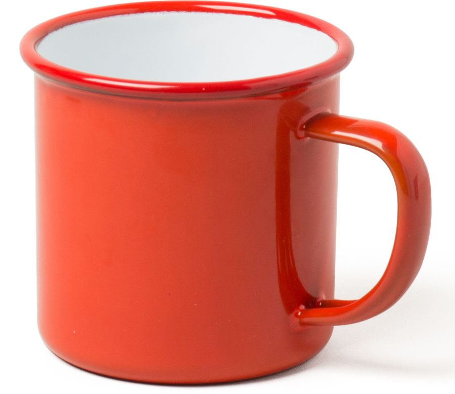 Emaille Tasse Rot