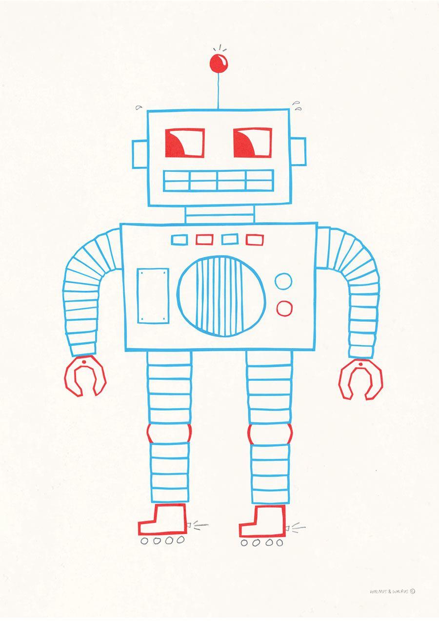 Robot Poster (50x70cm)