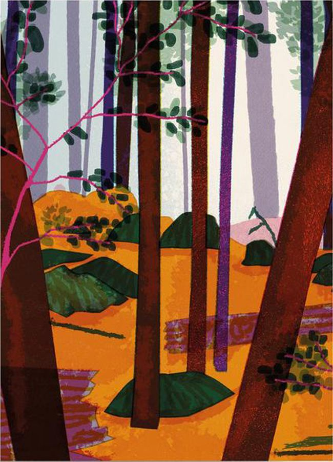 Trees Postkarte