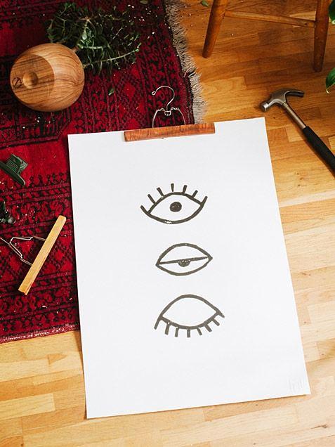 Eye Eye Poster Black (50x70cm)