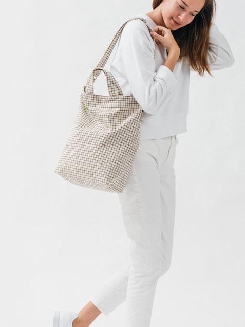 Duck Bag Natural Grid