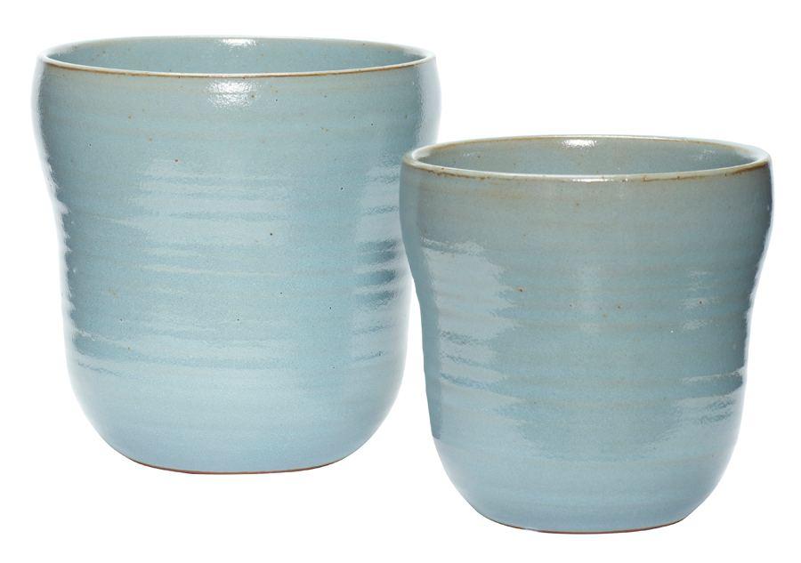 Keramikübertopf Blau (div. Größen)