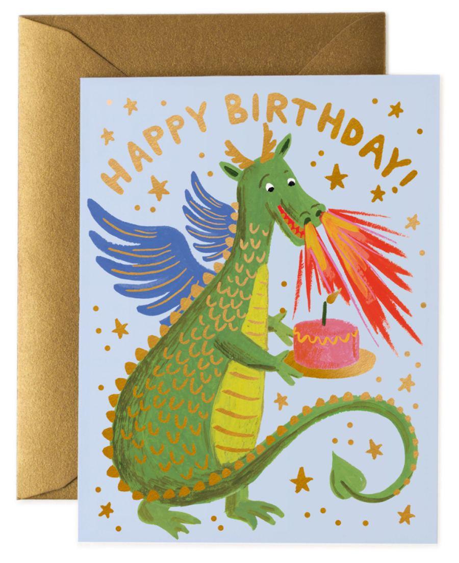 Birthday Dragon Klappkarte