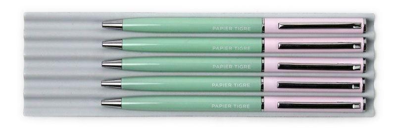 Papier Tigre Kugelschreiber Green Pink