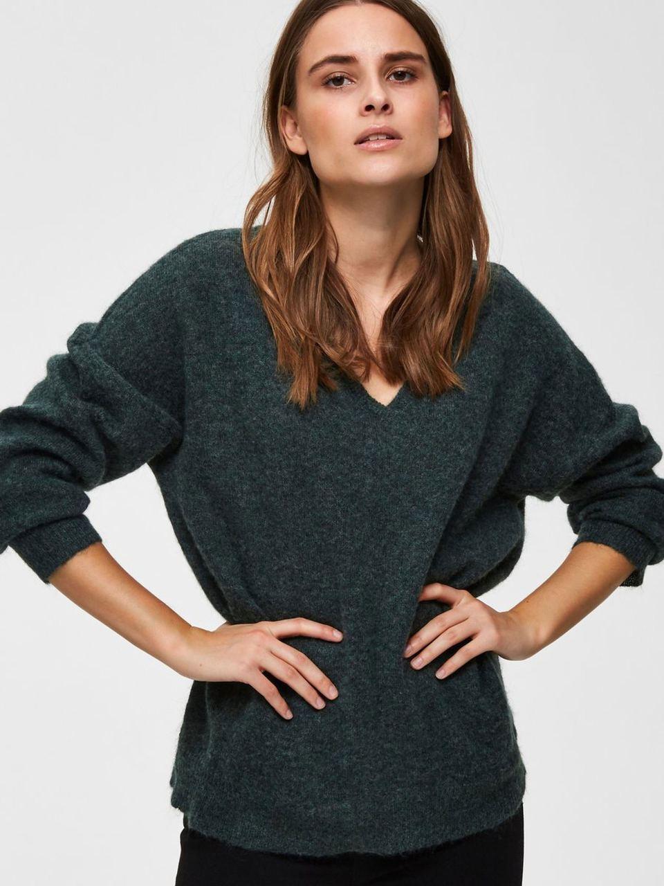 SLFLivana Pullover V-Neck Scarab