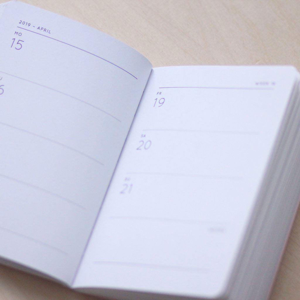 Taschenkalender 2019 Hellrosa