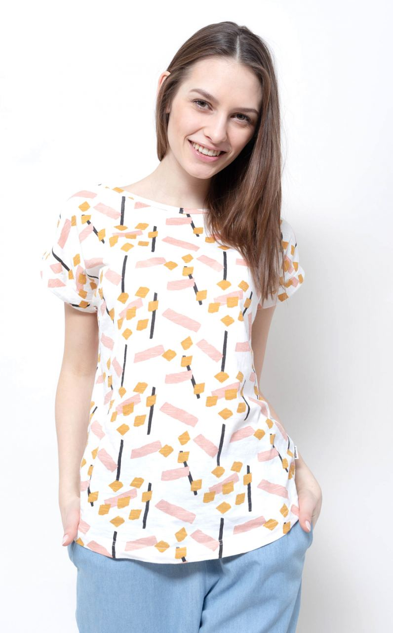 Holly Shirt Printed Off White