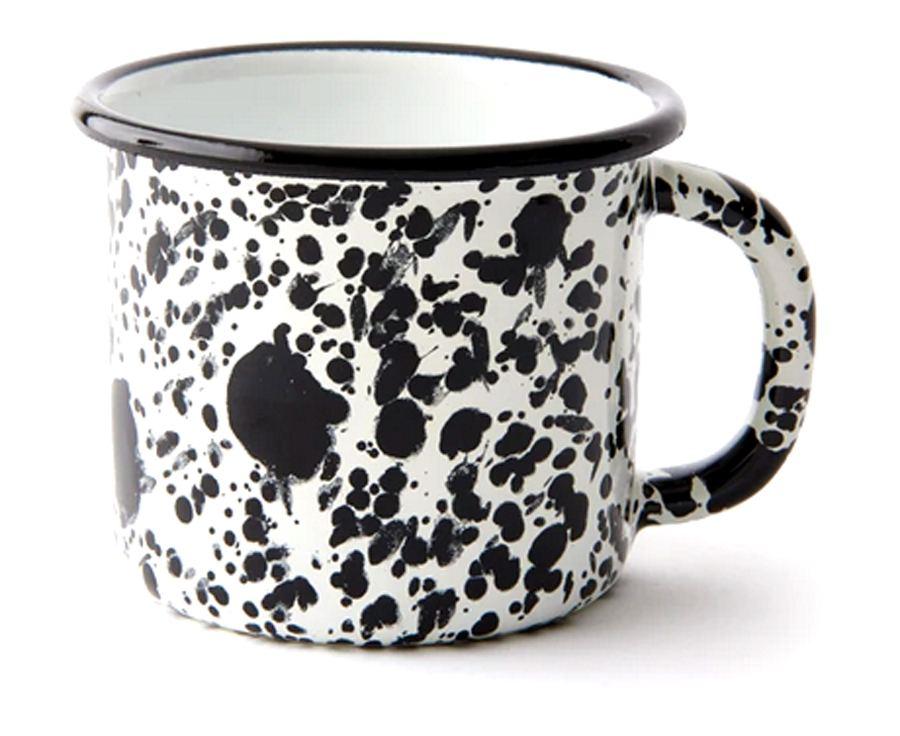 Monochrome Mug Black Splitter On White