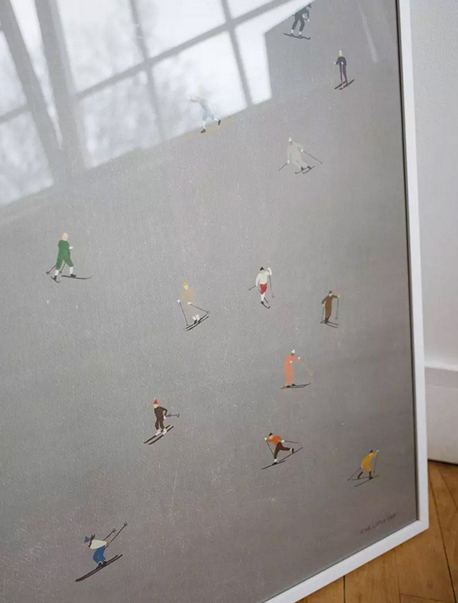 Skiers Poster (40 x 50cm)