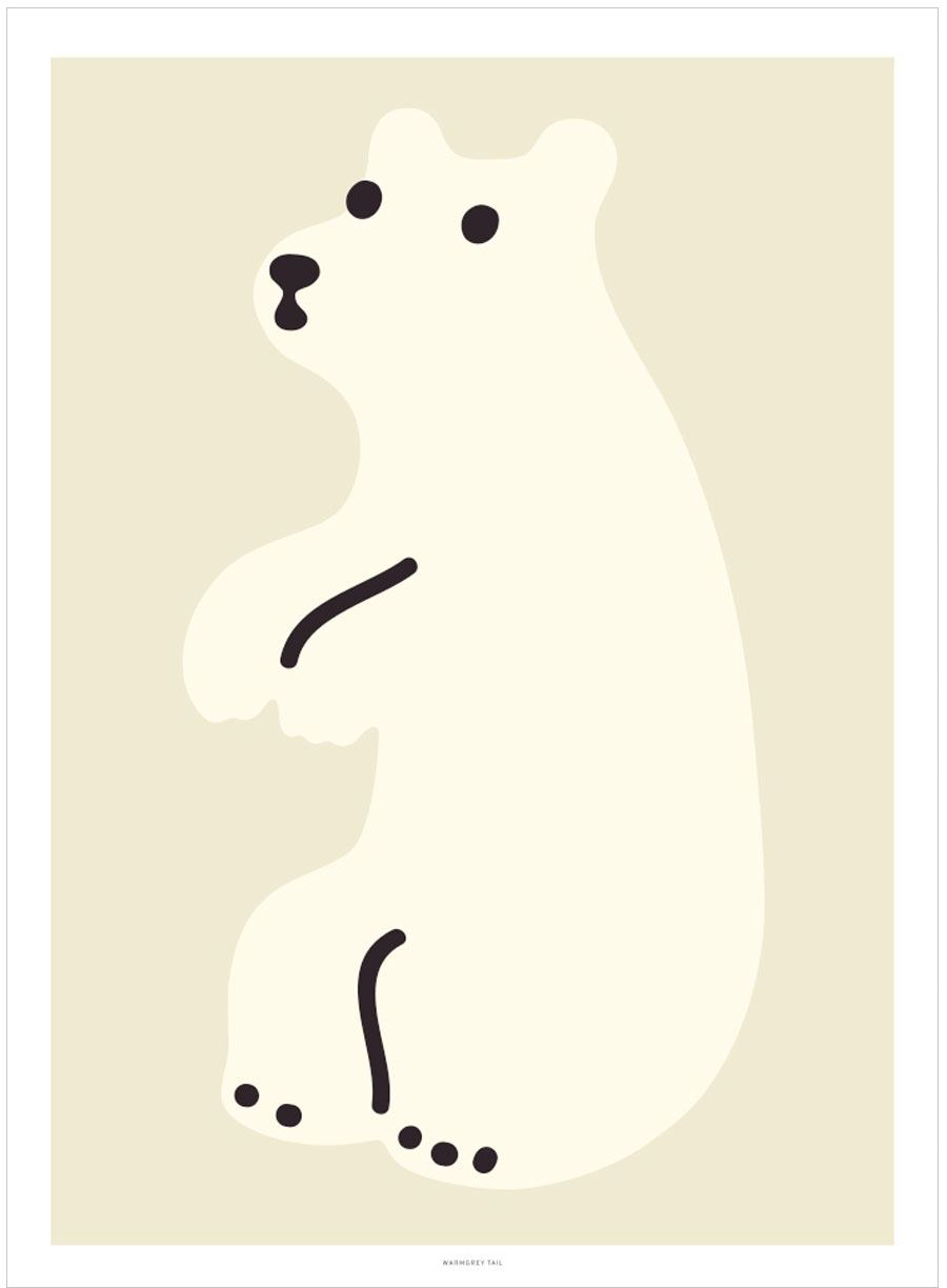 Huggy Bear Cream Poster (30x40cm)