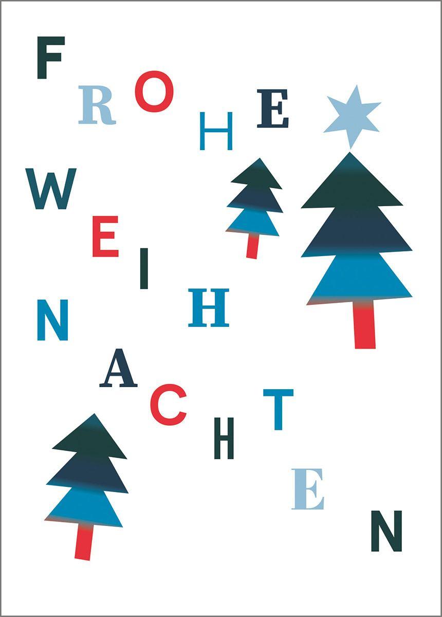 Typo Weiss Postkarte