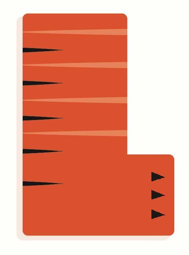 Tierbuchstabe L Orange