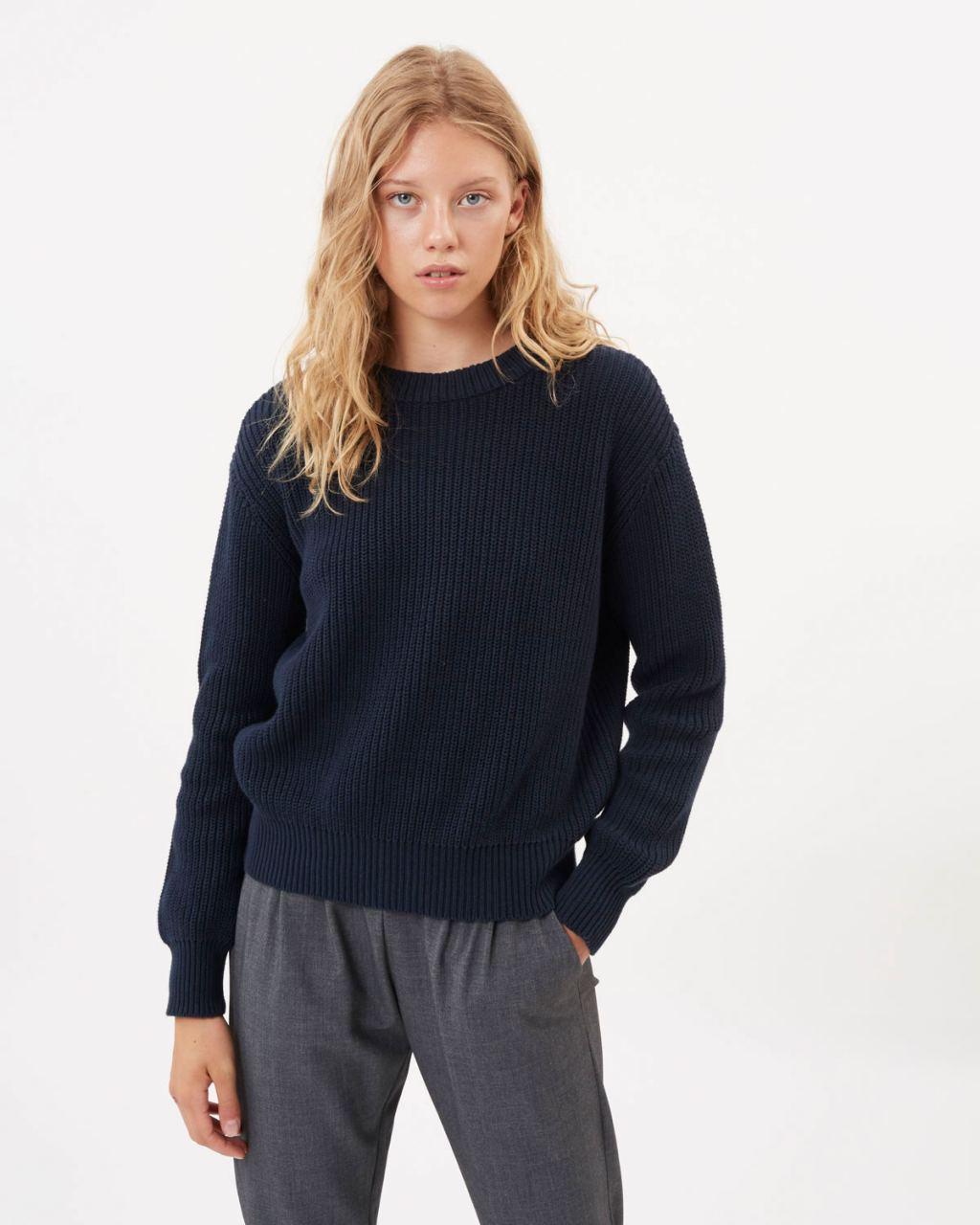 Mikala Strickpullover Navy Blazer