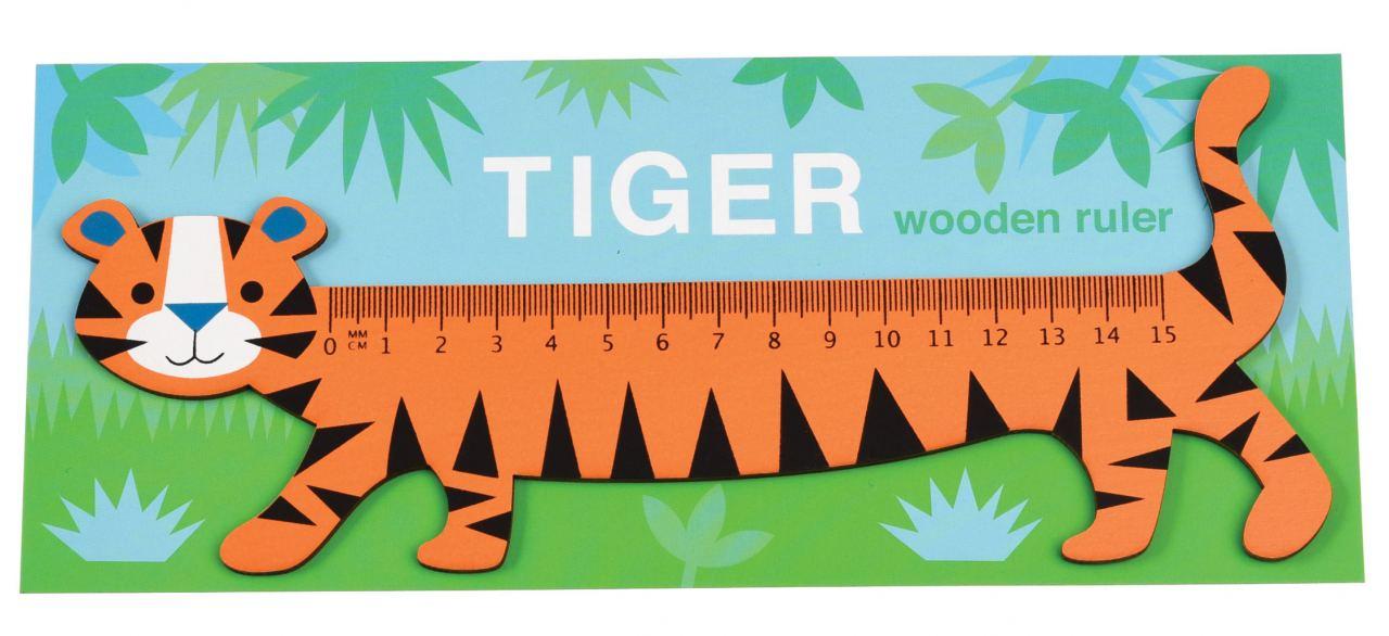 Holzlineal Tiger