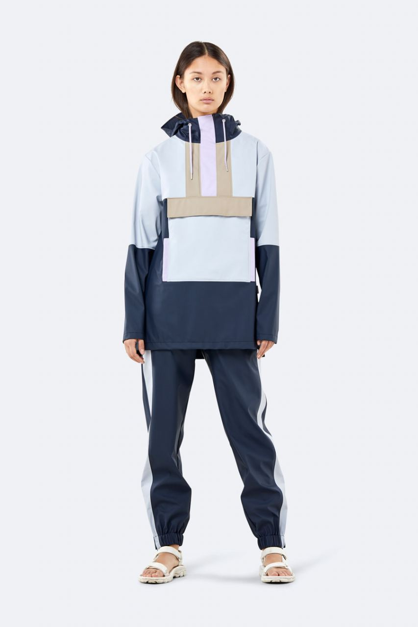 Color Block Anorak Blue Ice Grey