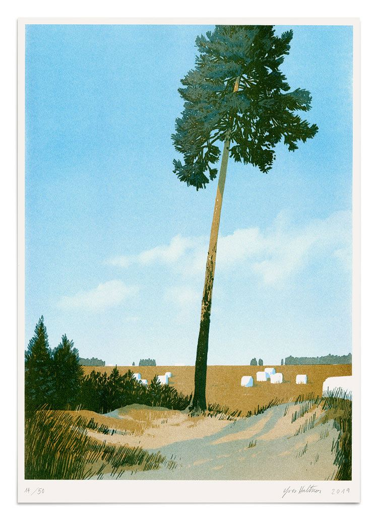 Brandenburg Print (Risographie) Din A3