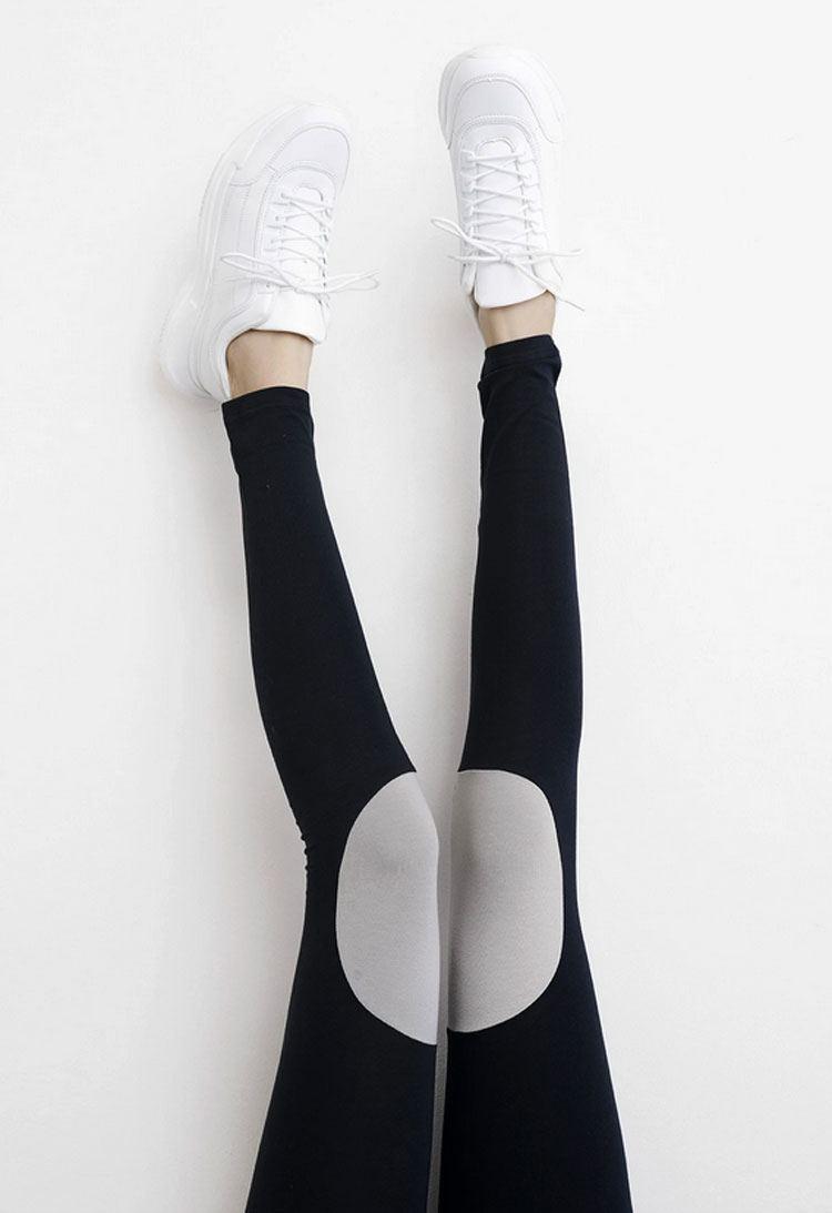 Patch Leggings Black Stone Grey