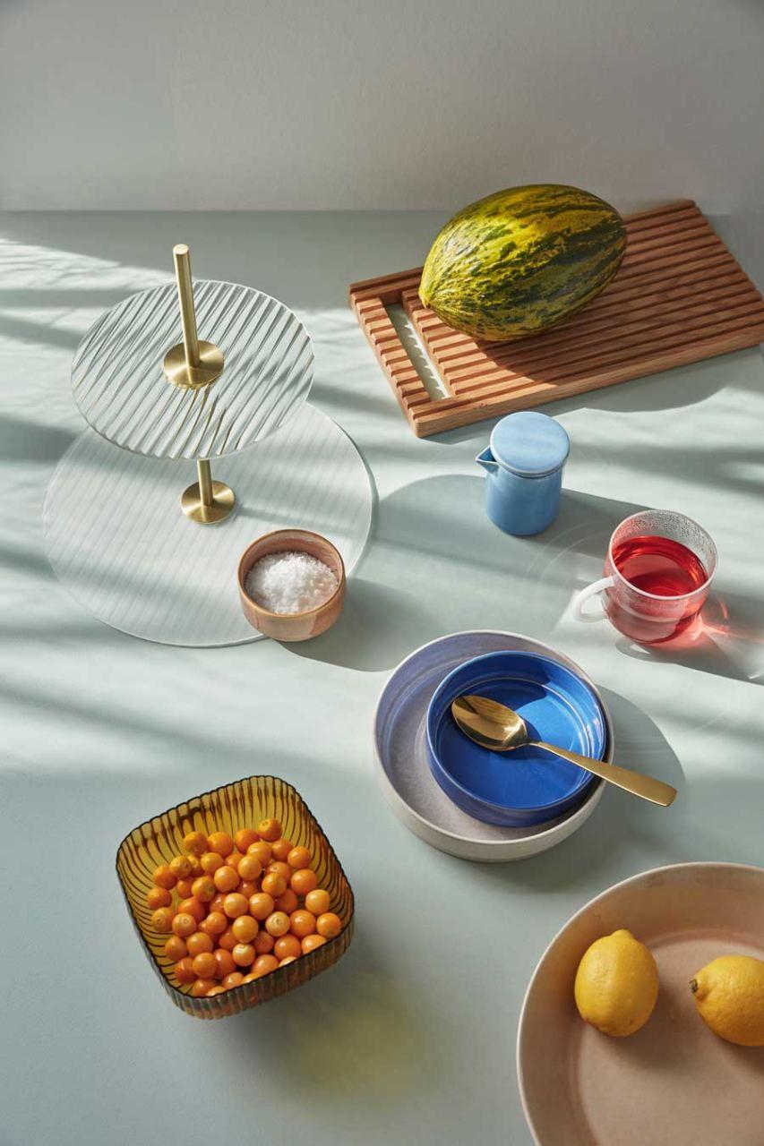 3er Set Schalen Keramik Blau