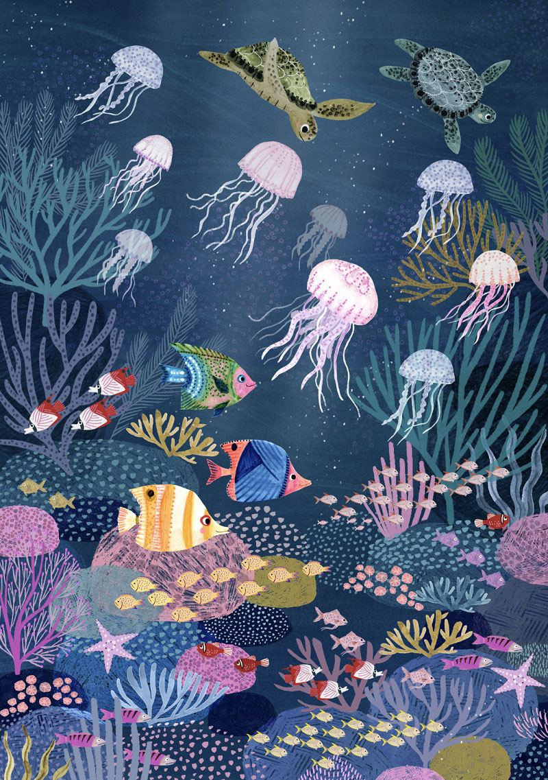 Coral Reef Poster (50x70xm)