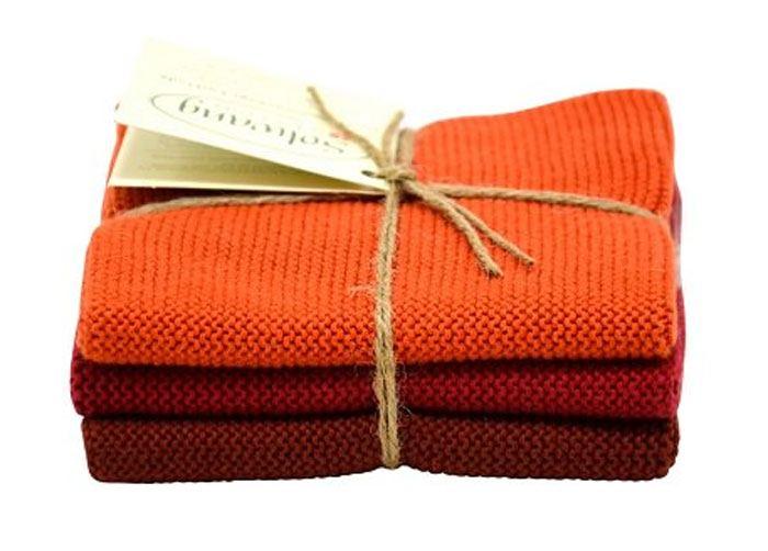 Solwang Wischtuch Gebranntes Rot Kombi (Bio-Baumwolle)