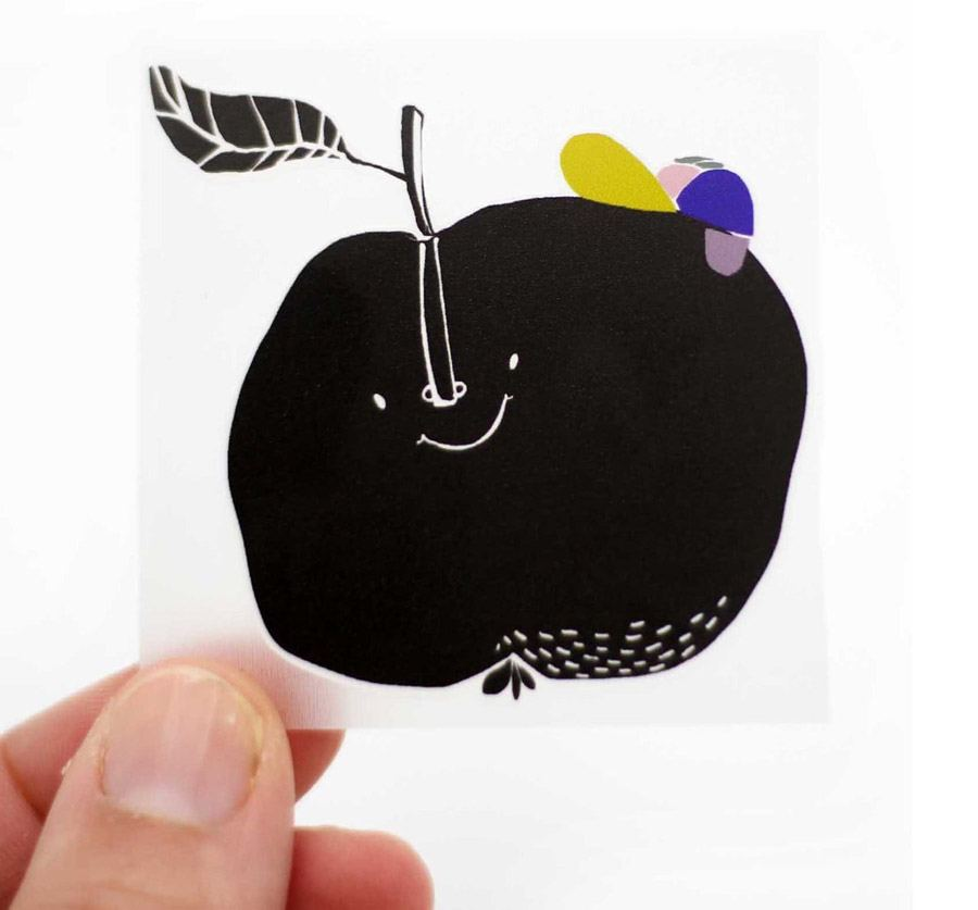 Bügelbild Apfel