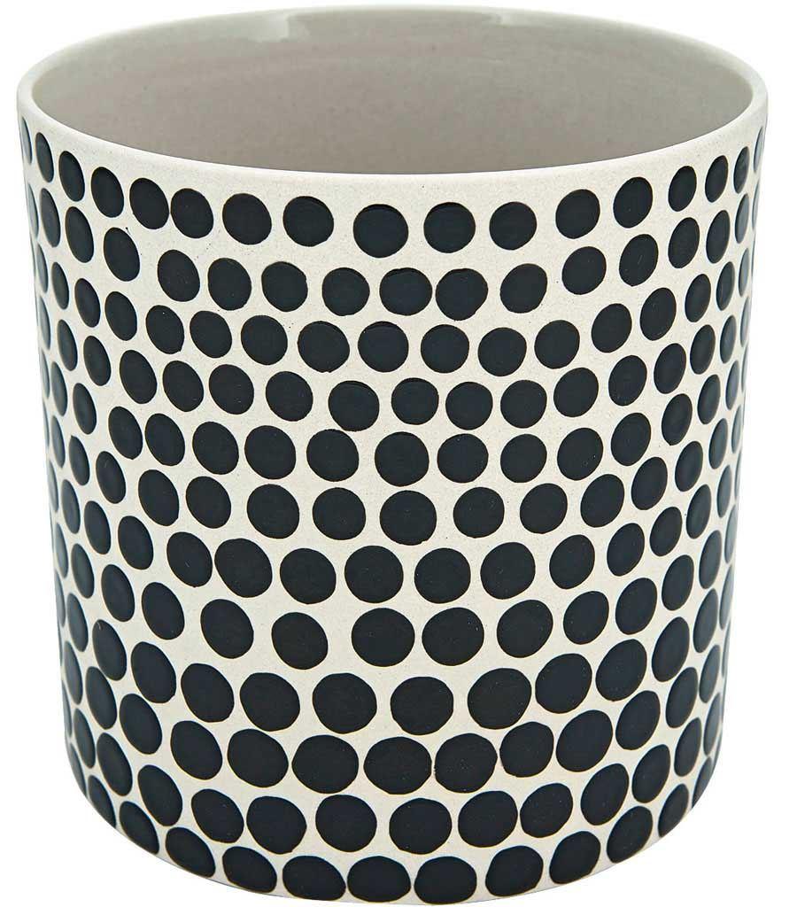 Topf Dots Schwarz Weiß #2