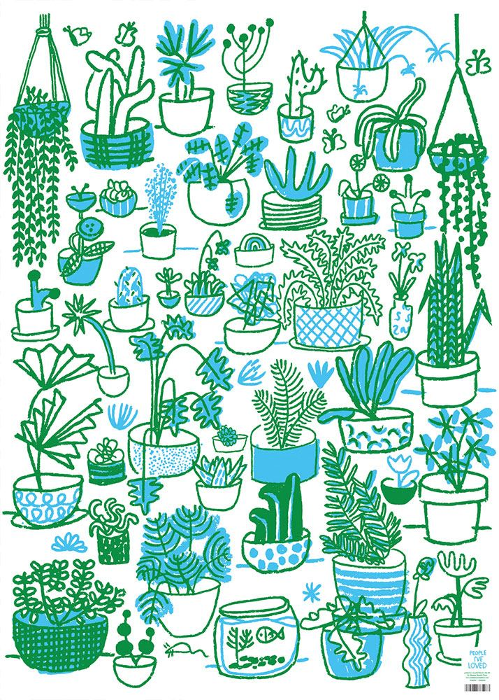 People I've loved Plants Geschenkpapier