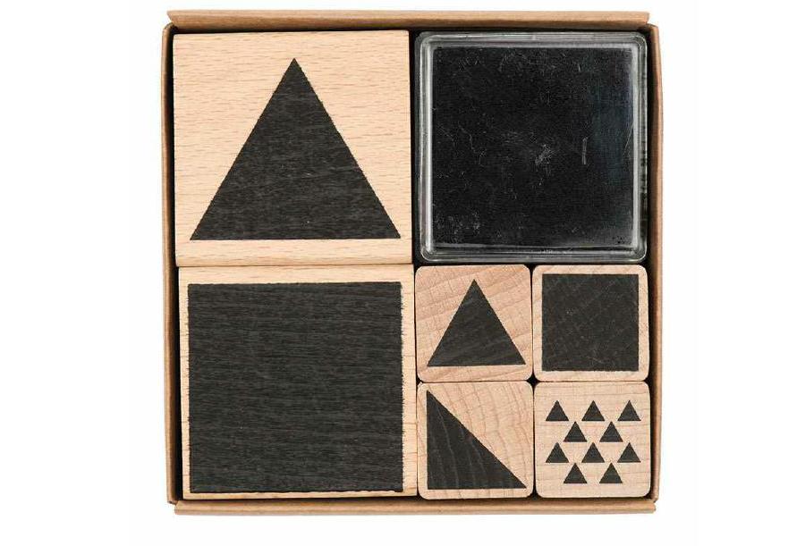 Stempelset Geometrisch Eckig