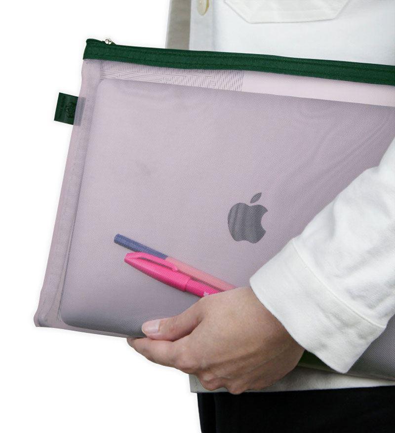 Papier Tigre Mesh Pocket L Powdery Pink