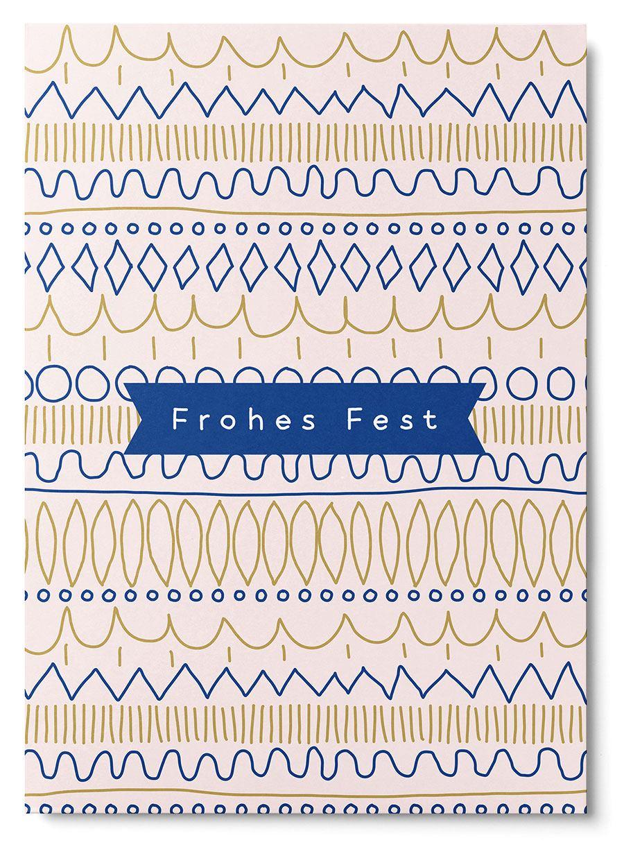 Schmuckes Fest Muster Postkarte