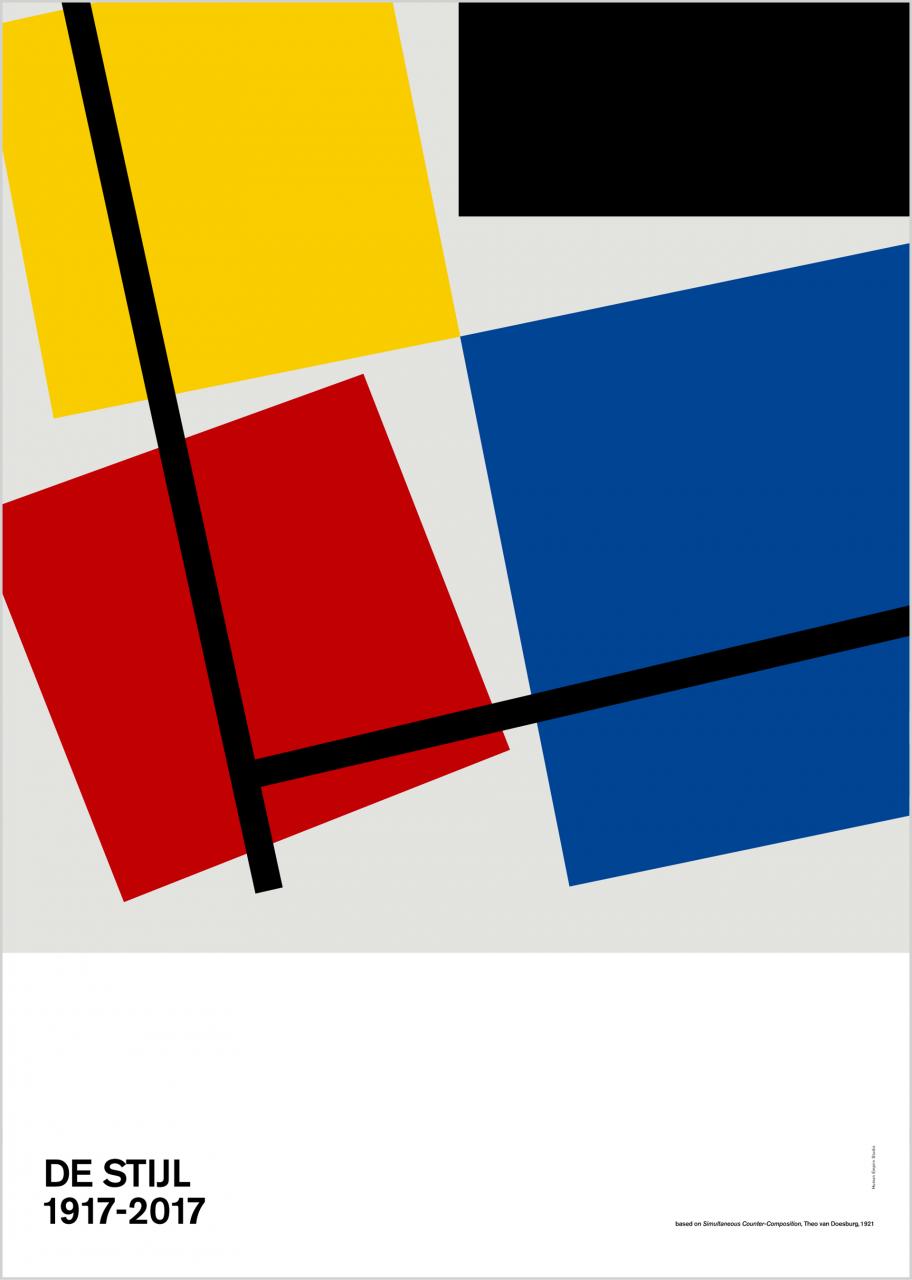 De Stijl #2 Poster